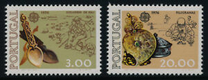 Portugal 1283-4 MNH EUROPA, Carved Spoons, Olive Wood, Silver Box