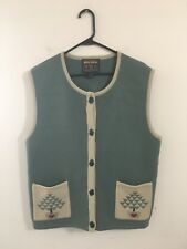 Christmas Woolrich Winter Sweater Vest 100% Wool Size XL Christmas Tree Pockets