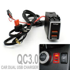 For Nissan QC3.0 Quick Charger Dual USB Phone Adapter Port Digital Voltmeter LED