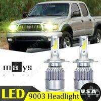 For TOYOTA Tacoma 1997-2015 2X High/Low LED Yellow Headlight H4 9003 4000LM Bulb