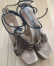 Killer Pair of Santini Mavardi  High Heels Platform Shoes Leopard Sz 7 Madonna