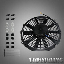 12 Inch 12 Volt Electric Cooling Fan + Mounting Kit Performance Thermo Fan 120W