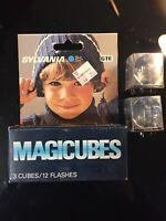 VINTAGE NOS Sylvania Magic Cubes Blue Dot MAGICUBES Pack of 3 UNOPENED Plus 2!
