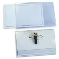 2 x Conference Badge Holders Name Badges & Passes with Combi Clip FREE DELIVERY