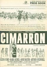 1960 Cimarron pressbook Glen Ford Maria Schell Anne Baxter Arthur O'Connell