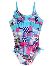 NWT Isobella and Chloe Girls' Fun Print One-Piece Swimsuit ~ Size 5 8