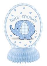 Unique Mini Blue Elephant Baby Shower Centerpieces