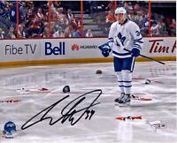"Auston Matthews Toronto Maple Leafs Signed 8"" x 10"" NHL Debut Hat Trick Photo"