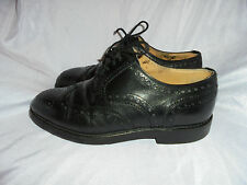 BALLY MEN'S BLACK LEATHER  LACE UP BROGUES FORMAL  SIZE UK 6 EU 40 VGC