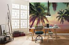 Gigante Mural de Pared Foto Wallpaper 368x254cm Miami Beach & Palms