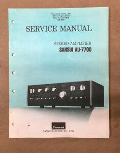 Sansui AU-7700 Amplifier Service Manual *Original*
