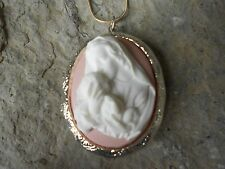 VIRGIN MARY AND BABY JESUS (MOTHER / BABY) CAMEO LOCKET!!! RELIGIOUS- QUALITY!!!