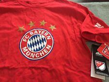 fb469f8cd BOYS YOUTH ADIDAS FC BAYERN MUNCHEN SHORT SLEEVE T SHIRT MEDIUM M RED NWT