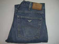 Da Uomo AJ Armani Jeans Blu Denim Gamba Dritta W32 L32 Indigo Series 004