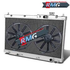 Aluminum Radiator For 2001-2005 Honda Civic 1.7L 2002 2003 2004 (Non-Si) +Fans