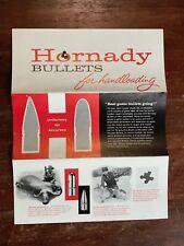 Vintage Hornady Bullets Handloading Bullet Pamphlet List Reloading Gun Guide