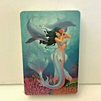 Mermaid with Dolphins Playing Cards Hawaii Island Mermaid Jewel Acrylic Case New