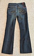 7 For All Mankind Women's Boot Cut Blue Jeans Size 25 X 29