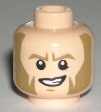 LEGO STAR WARS AGENT KALLUS MINIFIGURE HEAD Flesh Sideburns Dual Sided 75083