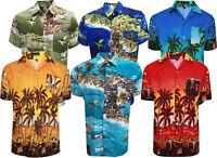 MENS HAWAIIAN SHIRT STAG BEACH HAWAII ALOHA PARTY SUMMER HOLIDAY FANCY