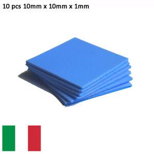 10x PAD TERMICO Thermal Pad 10x10x1mm Pasta Termica Alta Dissipazione