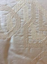 YVES DELORME ENLACER VANILLE COVERLET BEDSPREAD SILK COTTON 260/240CMS LUXURY