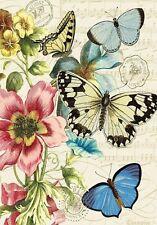 """SUMMER BOTANICAL FLORAL FLOWERS and BUTTERFLIES YARD GARDEN FLAG 12.5"""" X 18"""""""