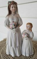 Brides Day  #1405 Homco Home Interiors Bride & Flower Girl Porcelain Figurine