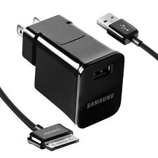 SAMSUNG GALAXY TAB NOTE OEM USB HOME WALL CHARGER ADAPTER ETA-P10JBEGSTA + CABLE