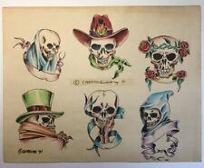 Tom Spaulding Vintage Tattoo Flash With Acetate Stencils