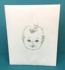 Baby's First Years Brag Book Album Record Baby Face Cover Unused Vintage 1960s