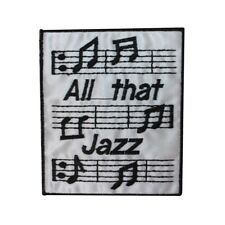 ID 3174 All That Jazz Sheet Music Patch Notes Song Embroidered Iron On Applique
