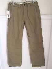 RRL Mens Military Standard Chinos Size 29x32 - NWT $185 ralph lauren polo