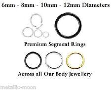 Seamless Segment Rings Circular Eyebrow Septum Nipple Helix Daith Conch Tragus