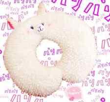 Kawaii Soft White Alpaca Travel Pillow Cushion Llama Cute Plush Funny Japan Gift