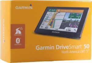 "Garmin DriveSmart 50LMT 5"" GPS w/ Bluetooth Lifetime Updates Brand New Sealed"