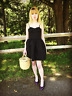 Red Valentino black satin bow cocktail party dress IT 38 / US 2 Audrey Hepburn