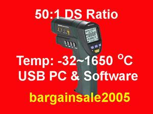 PCready IR temperature laser gun thermometer 50:1 T1650
