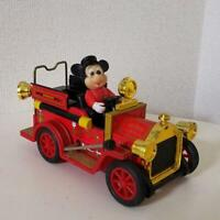 Antique fire engine Mickey Mouse tin Retro Vintage Car Limited Rare Disney toy