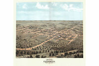 California, Missouri; Moniteau County; 1869 Antique Birdseye Map