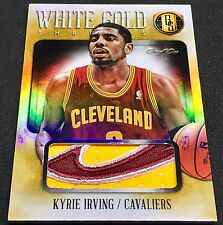 KYRIE IRVING 13-14 Panini Gold Standard WHITE GOLD CAVS LOGO PATCH SP TRUE #1/1