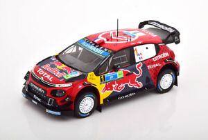 1:24 Ixo Citroen C3 WRC Winner Rally Mexiko Ogier/Ingrassia 2019 Red