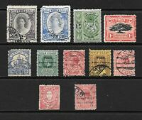 1896 - 1920 Queen Victoria to KGV RARE Collection of 11 stamps Used TOGA TONGA