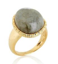 14K Gold Clad 925 Silver Technibond Ring  Labradorite HSN no scrap