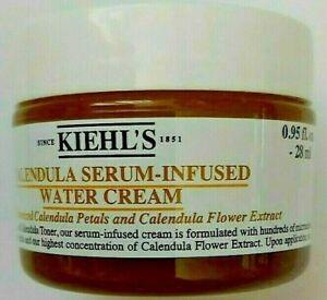 Kiehl's Calendula Serum Infused Water Cream 0.95 Oz Fresh Batch Code 18S- Travel