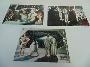BT STAR WARS Phone Cards x 3 Return of the Jedi Empire Strike Back Vintage