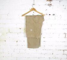 """VTG Carhartt Mens Dark Khaki Carpenter Workwear Chore Jeans Pants Sz 42"""" X 30"""""""