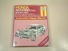 Repair Manual fits 1976-1983 Honda Accord  HAYNES