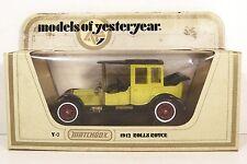 MATCHBOX ~ YESTERYEAR ~ Y-7 ~ 1912 ROLLS ROYCE ~ YELLOW