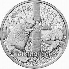 Canada 2013 Beaver Family $50 Five 5 Ounce Pure Silver Proof - MINTAGE 1,500 !!!